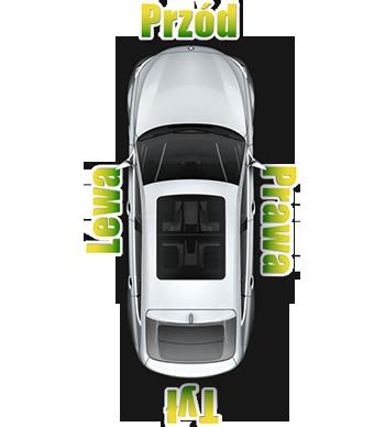 Zwróć uwagę na strony samochodu